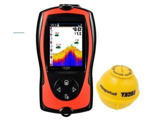 LUCKY Portable Fish Finders Wired Transducer Kayak Fish Finder Kit Portable Depth Finder LCD Display for Kayak Boat Ice Fishing