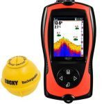 LUCKY Portable Fish Finder Transducer Sonar