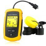 enterior VT-FF001 Portable Fish Finder, Handheld Fishfinder Fish Depth Finder with Sonar Sensor Transducer and LCD Display