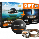 Deeper Smart Sonar Deeper Pro+ sonar + Petlz HeadLamp bundle Deeper Pro+ Smart Sonar and Petzl Tikka Brown E93hou - Black, Universal