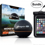 Deeper Smart Sonar PRO Series - Wi-Fi Connected Wireless, Castable, Portable Smart Fishfinder for iOS & Android Devices & Universal Waterproof CellPhone Case (Bundle)