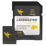 Humminbird LakeMaster Plus Mid-South States Edition Digital GPS Lake and Aerial Maps, Micro SD Card, Version 3, Black
