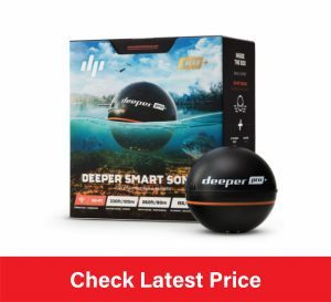 Deeper PRO+ Smart Sonar - GPS Portable Wireless Wi-Fi Fish Finder for Shore and Ice Fishing, Black, 2.55